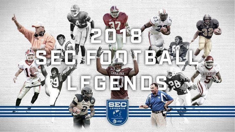 SEC announces 2018 Football Legends class