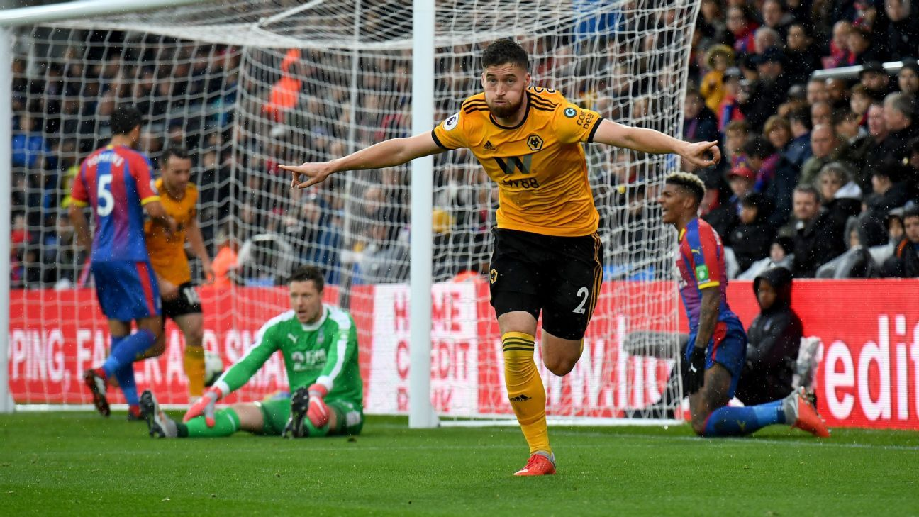 Wolves go six games unbeaten with win at Crystal Palace