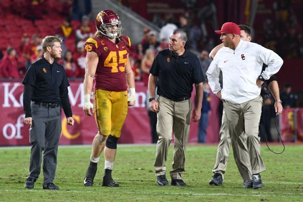 Fractured ankle ends USC OLB Porter Gustin's season