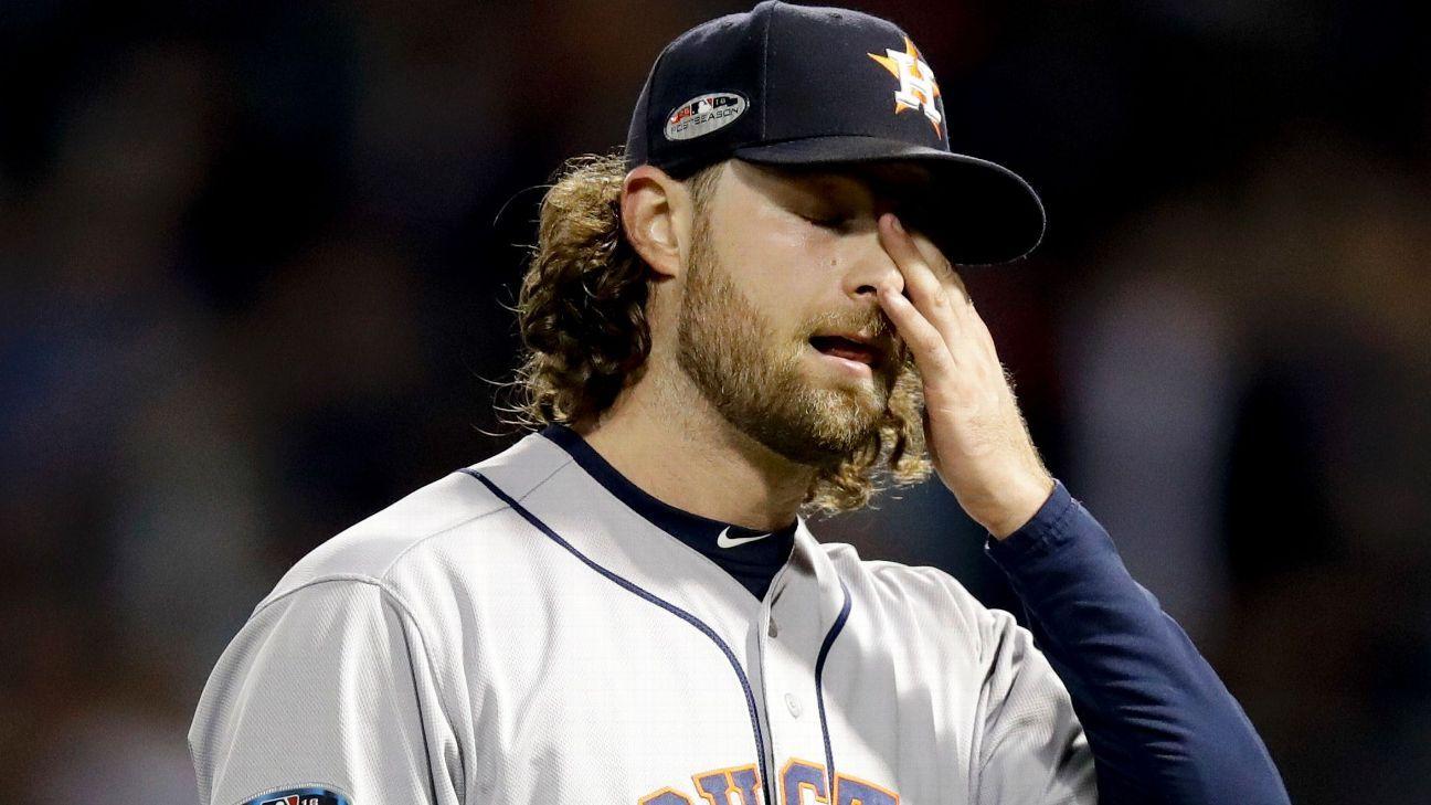 Cole falló y Astros no pudo sacar ventaja de 2-0 en Boston en SCLA