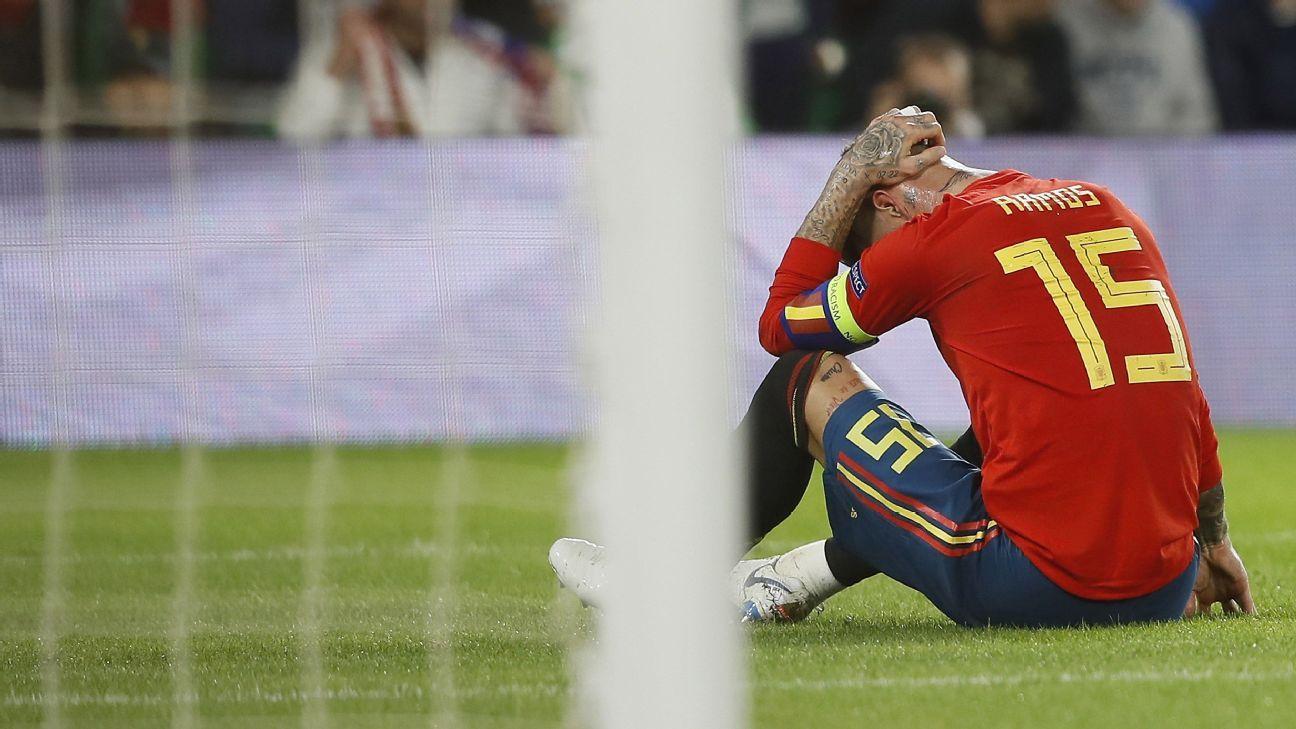 Sergio Ramos lamenta errores en primer tiempo ante Inglaterra