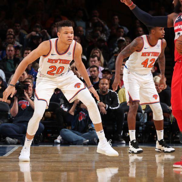 Knicks' Kevin Knox loses spot in starting lineup to Frank Ntilikina