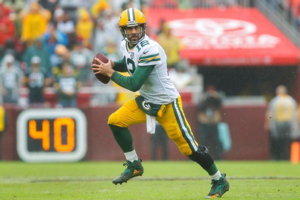 Packers face biggest underdog line in Aaron Rodgers' career