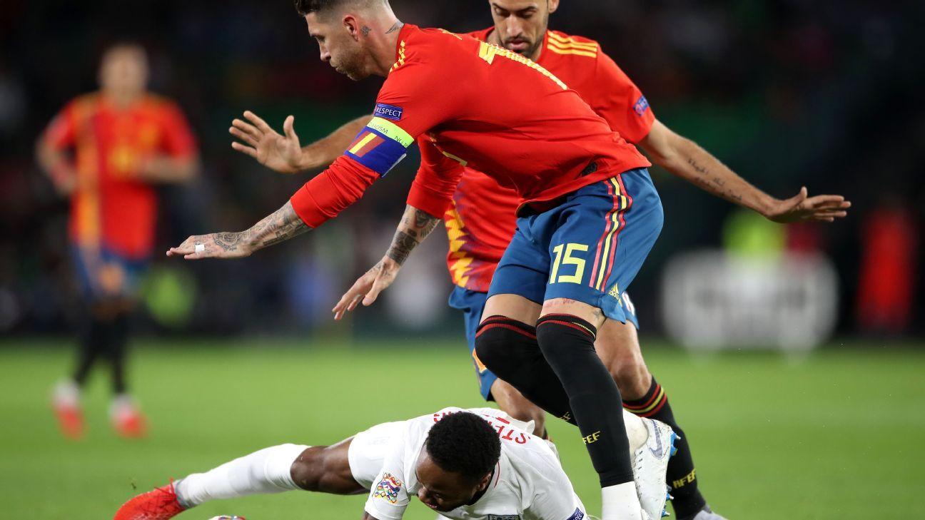 Sergio Ramos sube un video que desmiente el pisotón sobre Sterling