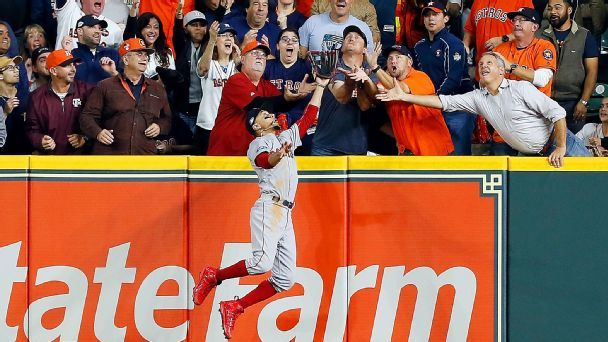 Twitter reaction to Red Sox-Astros fan interference call
