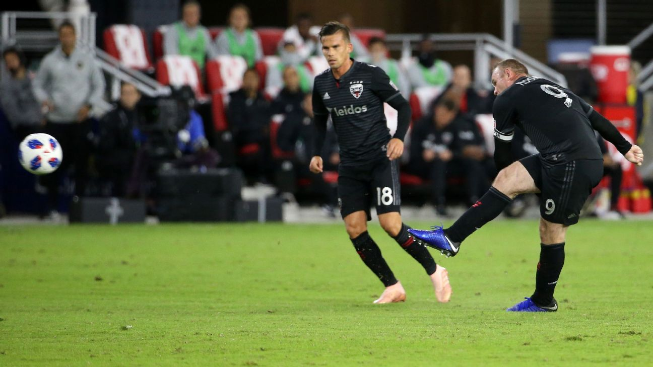 Wayne Rooney's curling free kick takes D.C. United to playoffs' doorstep