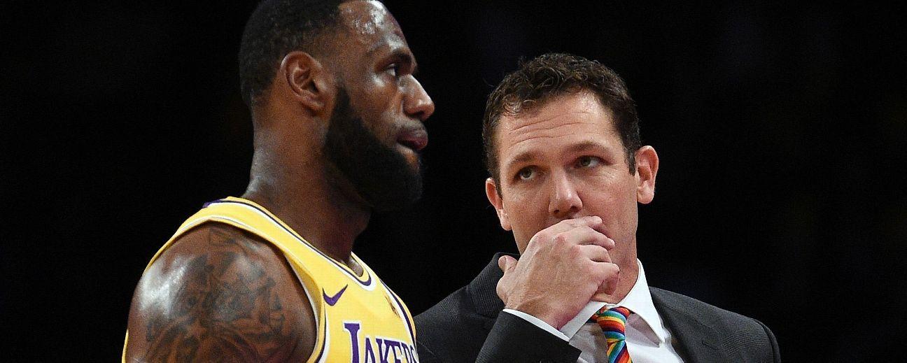 Luke Walton piensa a largo plazo en relación de minutos de LeBron James en la duela
