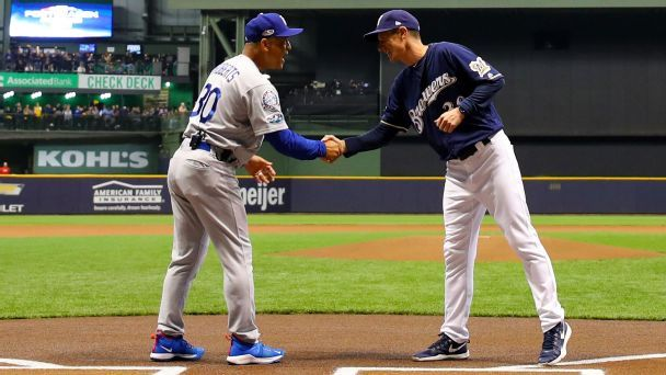Dodgers, Brewers show how analytics is changing baseball