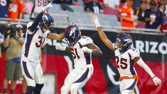 Watch: Broncos start quickly with 2 picks, a trick and a treat
