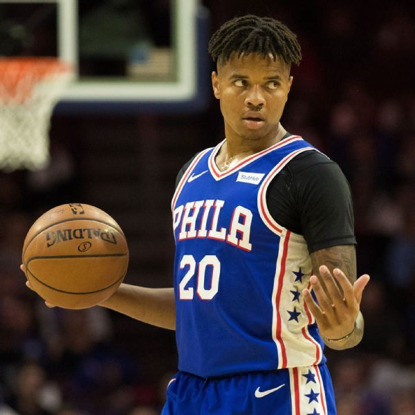 76ers' Markelle Fultz takes step forward with first 3-pointer