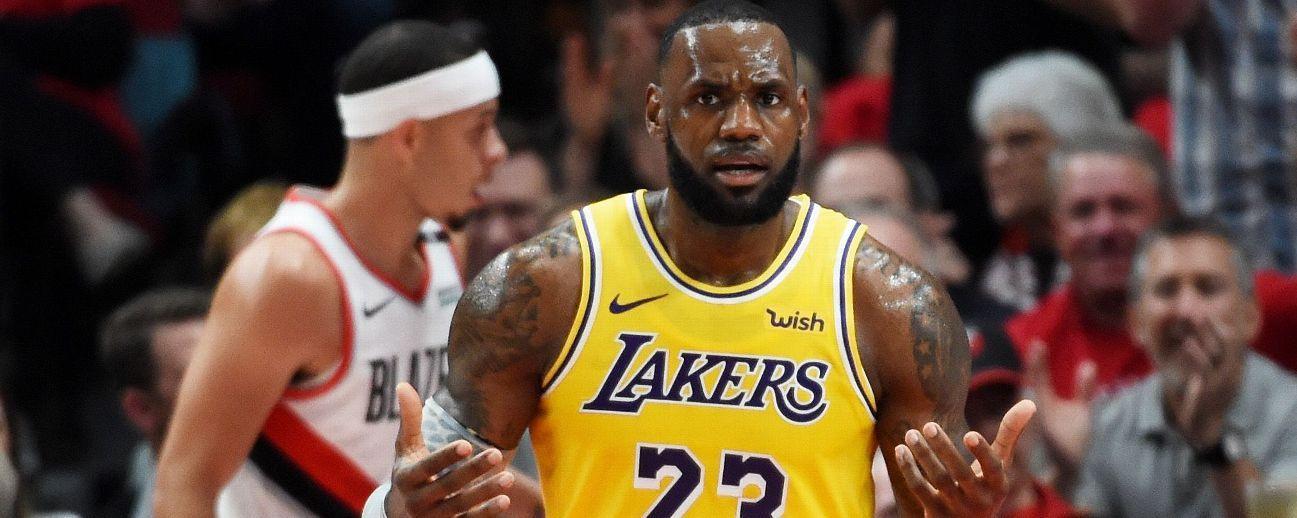 LeBron marca 26 puntos; Blazers arruinan su debut