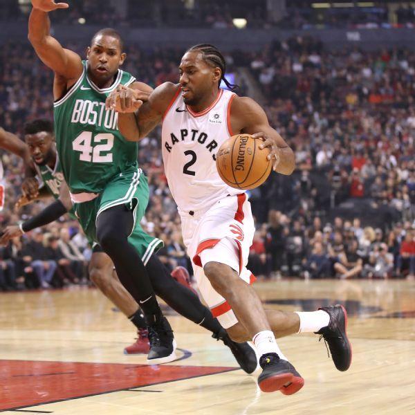 Just getting started, Raptors' Kawhi Leonard drops 31 on Celtics
