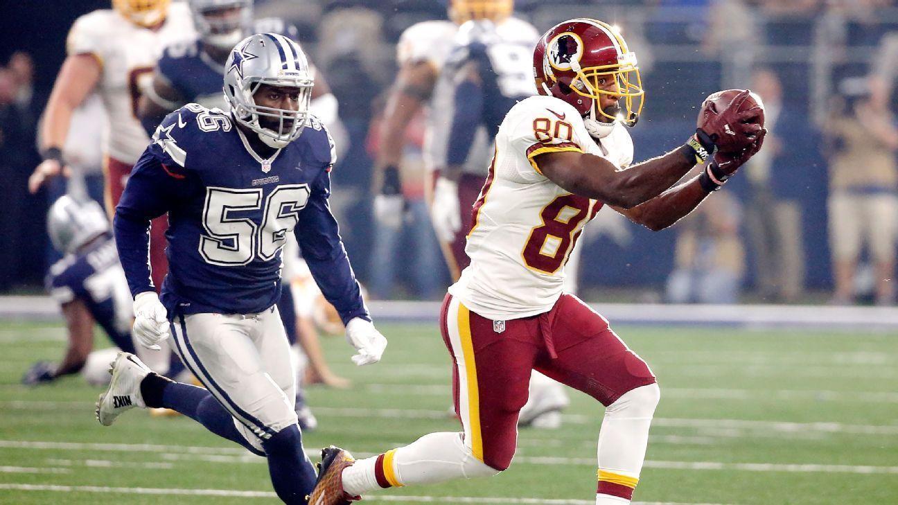 Redskins llegarán con receptores mermados ante los Cowboys