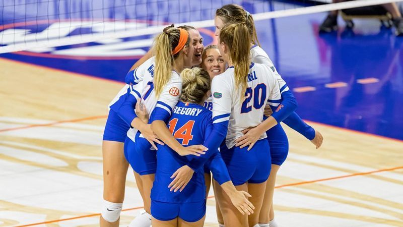 No. 11 Gators top Rebels in four sets
