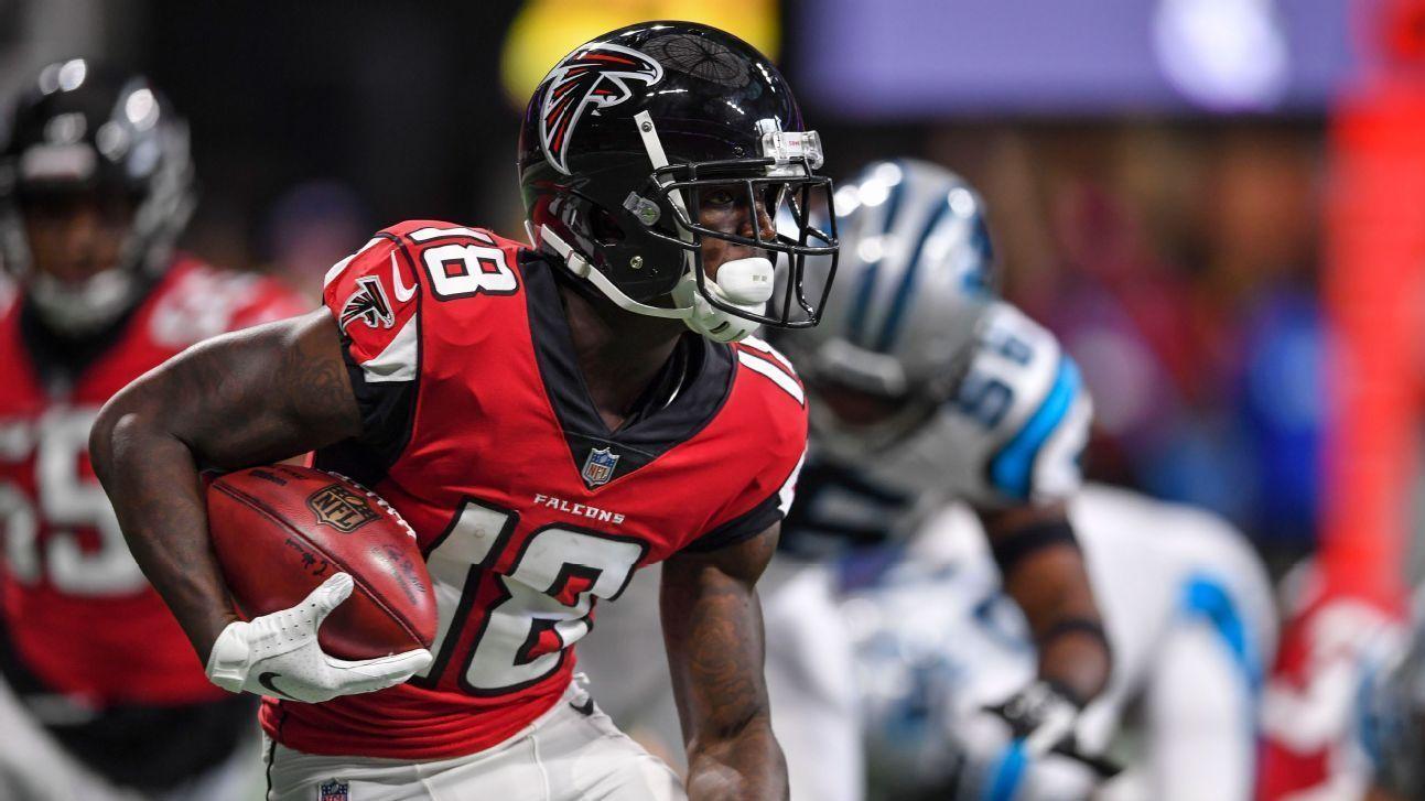 Falcons recuperaron a Calvin Ridley, Mohamed Sanu y Grady Jarrett