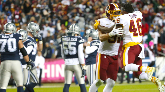 Snap infraction? Another unusual ending for Cowboys at FedEx Field