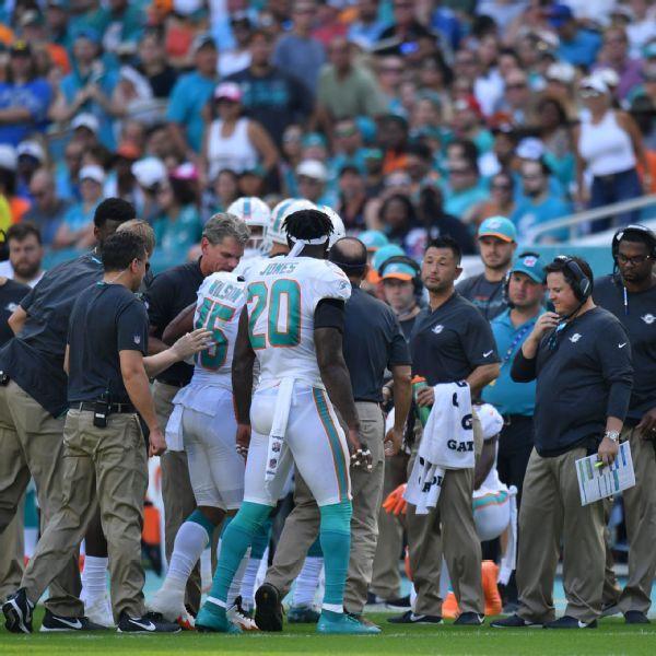 Dolphins lose receiver Albert Wilson to leg injury