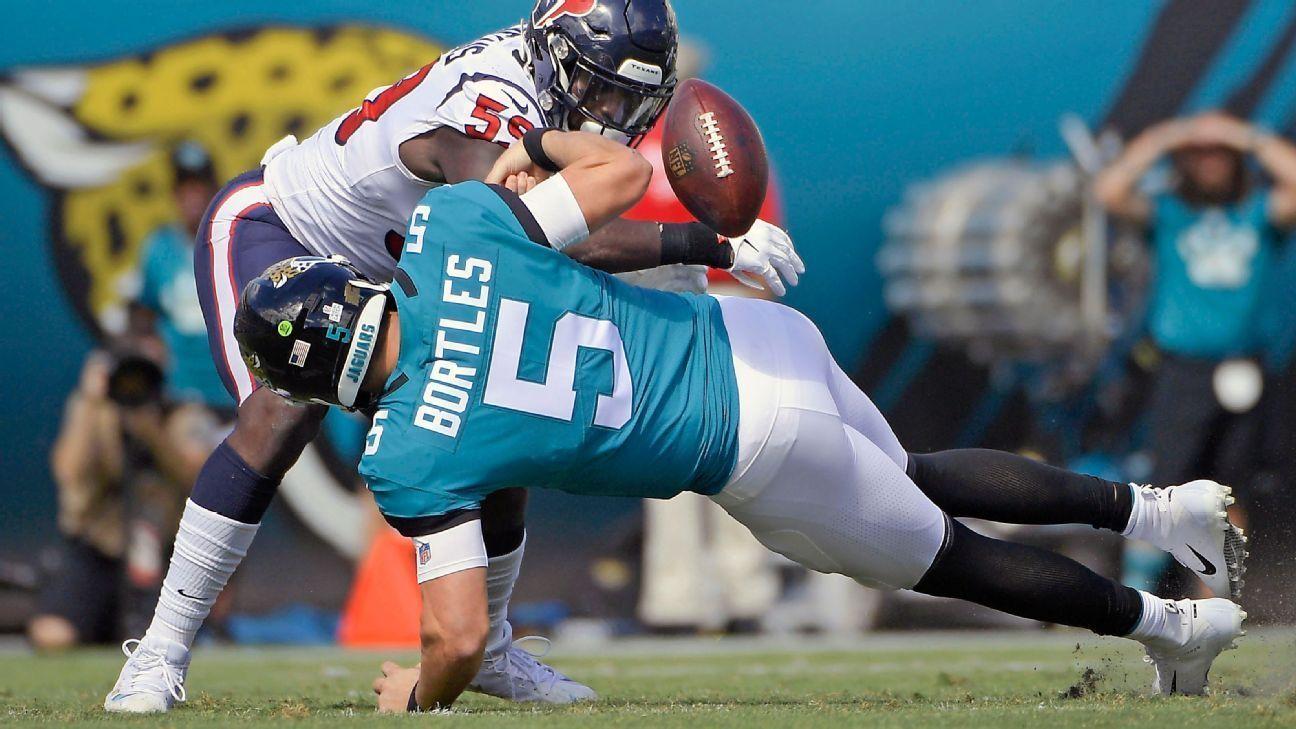 Los Jacksonville Jaguars enviaron a Blake Bortles a la banca