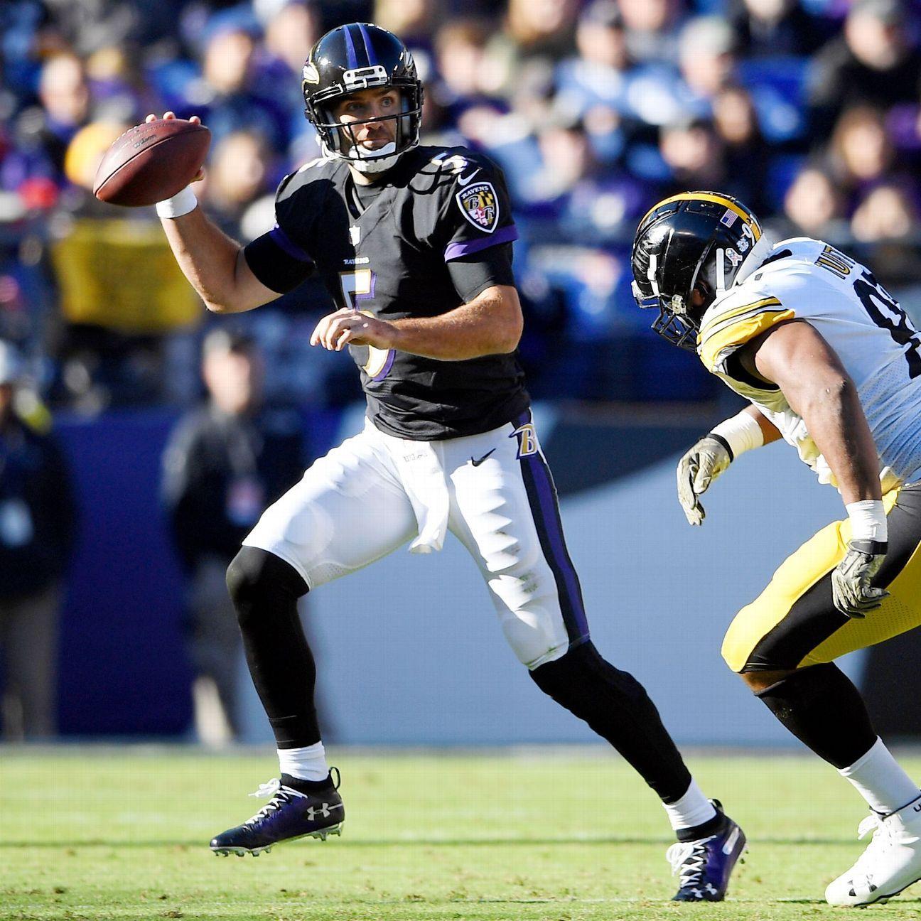 Ravens await diagnosis on Joe Flacco's hip as QB decision looms