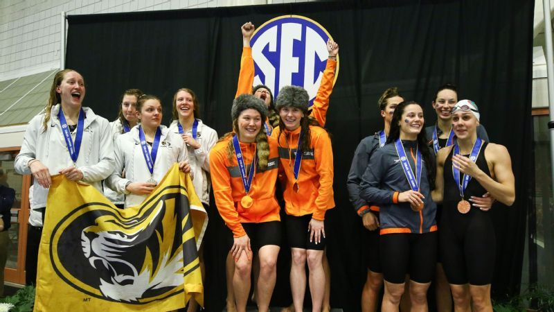 Vols, Gators lead Swimming & Diving Championships