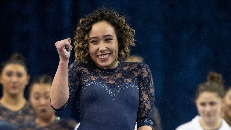 UCLA gymnast Katelyn Ohashi's new floor routine -- Viral star
