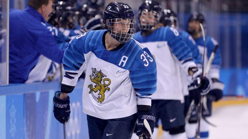 a8e52c680 Finland s Michelle Karvinen doing double duty at 2019 IIHF Women s World  Championship