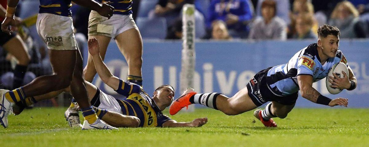 Cronulla Sharks' Bronson Xerri burns Parramatta Eels in NRL rout