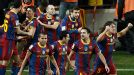 Barcelona's team revel in their night of glory