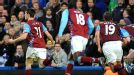 Aston Villa celebrate Ciaran Clark's dramatic injury-time equaliser