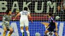 Heading for glory: Abby Wambach nods home what looked to be the winner