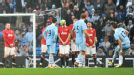 Aleksandar Kolarov fires home his free-kick right after the restart