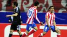 Eduardo Salvio (r) put Atletico in front against Besiktas