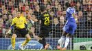 Didier Drogba slots home the winning goal for Chelsea