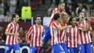 Joy for Atletico Madrid after Falcao found the top corner to give them the lead