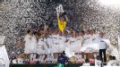 Real Madrid lift the La Liga title