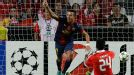 Alexis Sanchez notched Barcelona's first goal at Benfica