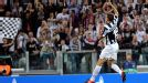 Juventus defender Leonardo Bonucci celebrates after scoring against Shakhtar Donetsk