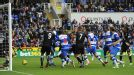 Hal Robson-Kanu scores an equaliser to give Reading a share of the points in their 3-3 draw with Fulham