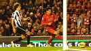 Luiz Suarez has the simple task of putting the ball in the back of the net for Liverpool's equaliser after expertly rounding Tim Krul