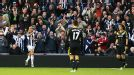 Peter Odemwingie celebrates after scoring what proved to be West Brom's winner against Chelsea