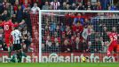 Adam Lallana's goal gave Southampton the lead in their Premier League win against Newcastle