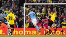 Gareth Barry doubles Manchester City's lead against Watford