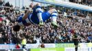 Noel Hunt celebrates after opening the scoring for Reading