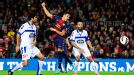 Alexis Sanchez heads Barcelona in front against Deportivo