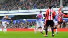 Andros Townsend blasts home QPR's second goal against Sunderland