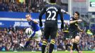 Jordi Gomez's effort from the edge of the box made it three goals in a little over three minutes for Wigan at Everton