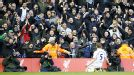 Jan Vertonghen celebrates after he fired Spurs into the lead at Anfield