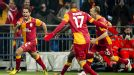 Hamit Altintop is all smiles after equalising for Galatasaray at Schalke