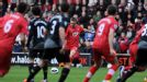 Rickie Lambert fires Southampton into a two-goal lead over Liverpool