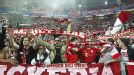 Bayern Munich fans celebrate as their team cruise past Juventus in Italy